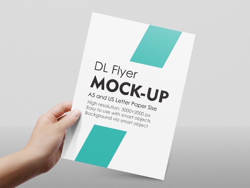 a4 a5 flyer mockup diephay on dribbble