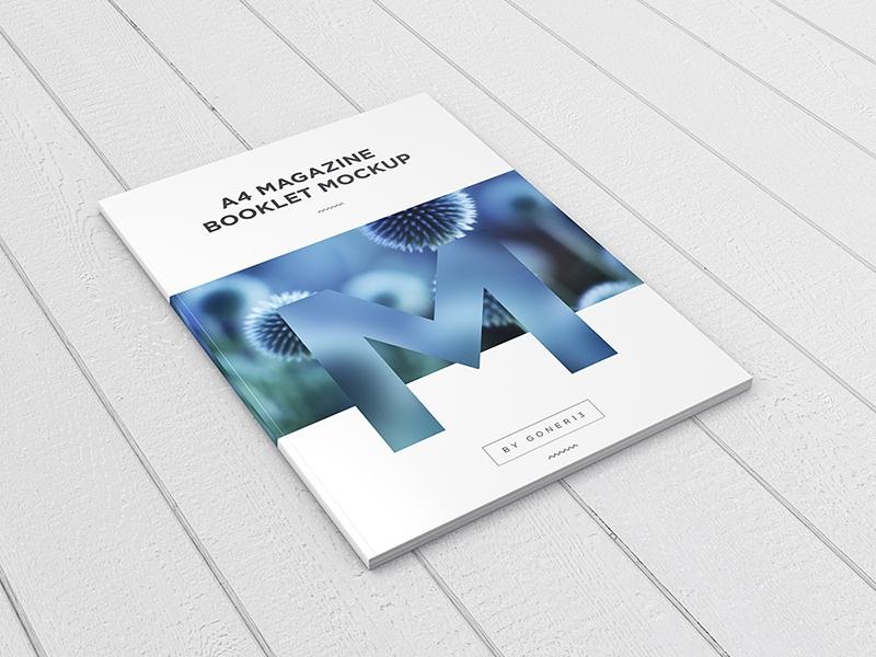 a4 magazine booklet mockup vol 1 piotr szmiyk on dribbble