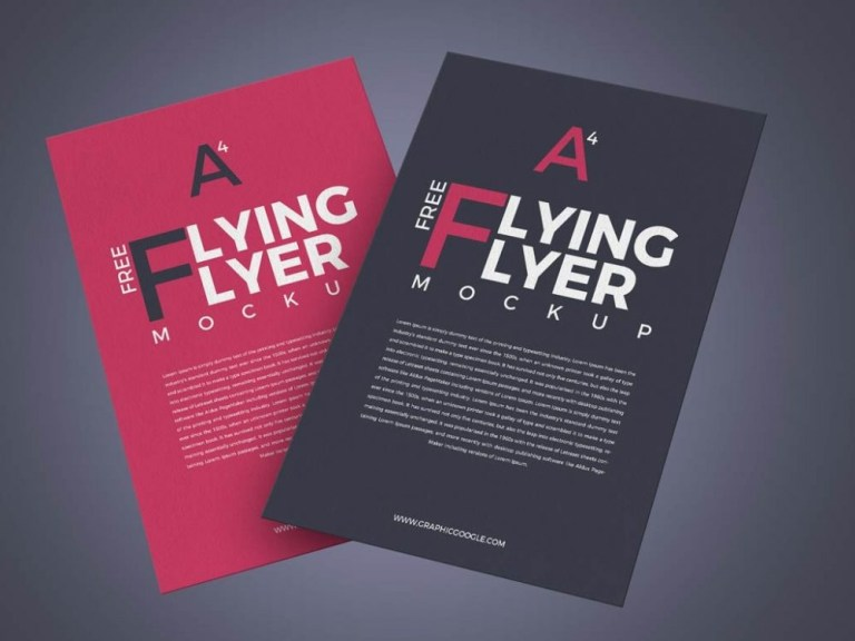 a4 paper flyer mockup psd template daily mockup