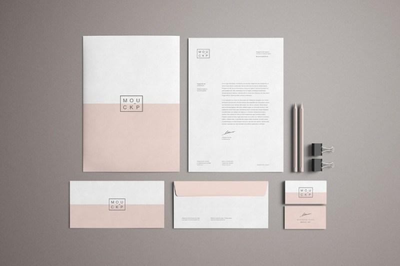 advanced branding stationery mockup free design resources