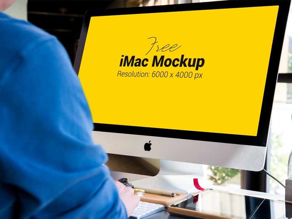 apple imac mockup psd mockup love