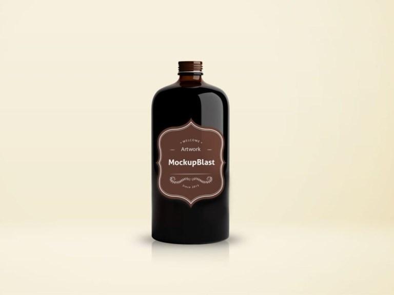 beautiful coffee bottle mockup mockupblast