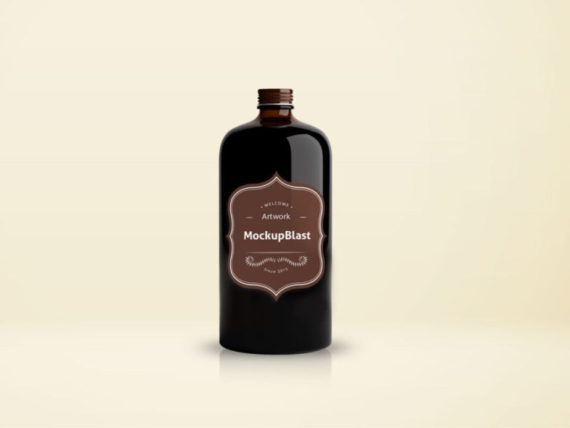 beautiful coffee bottle mockup mockupblast