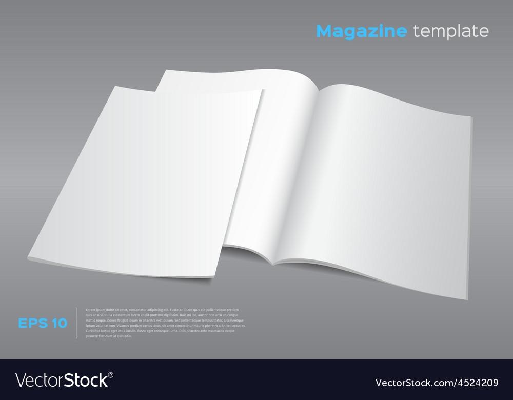 blank magazine mockup template royalty free vector image