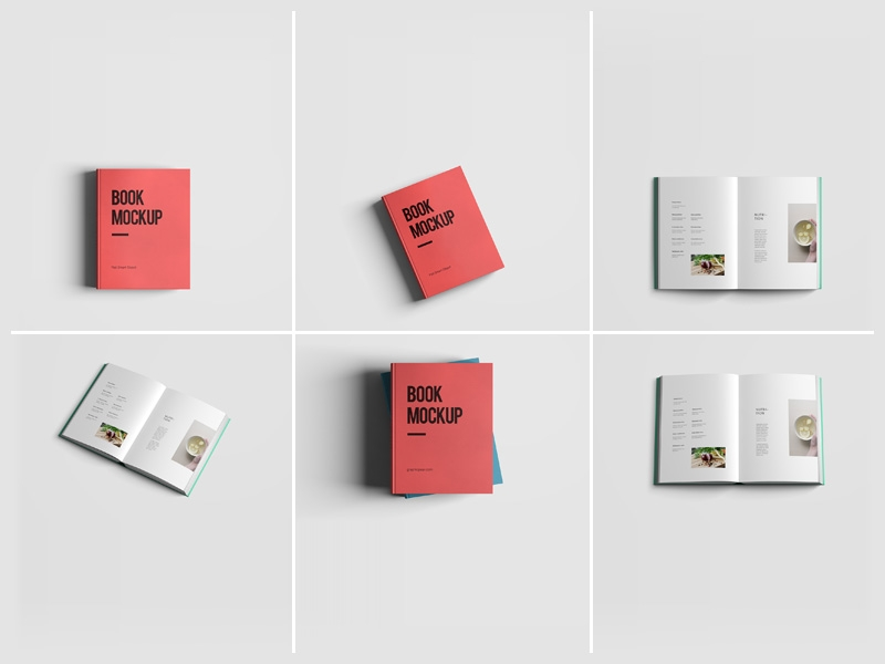 book mockups free psd template psd repo