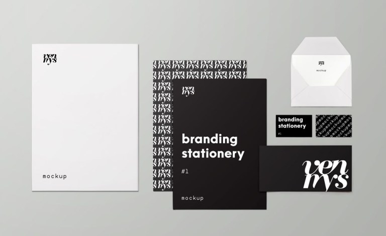 branding stationary items mockup mockupworld