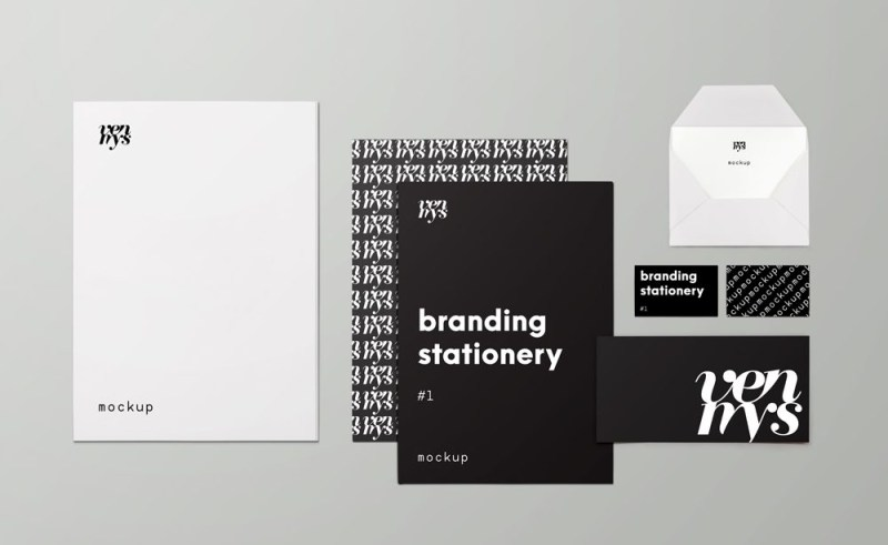 branding stationary items mockup mockupworld