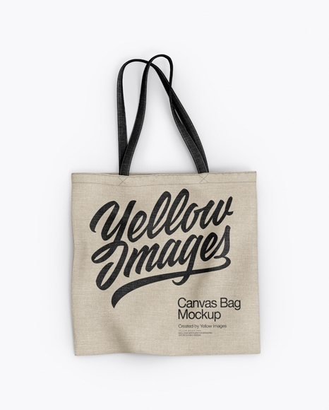 canvas bag mockup top view in apparel mockups on yellow images