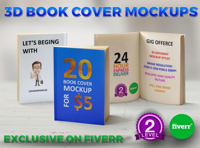 create 3d book mockup lexamarian124