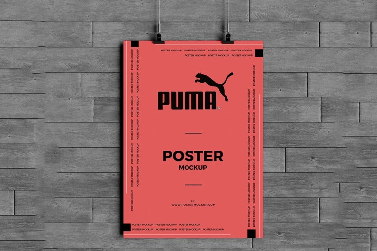 download this free hanging poster mockup in psd designhooks