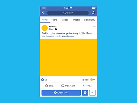 facebook mobile post mockup psd