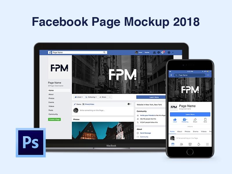 facebook page mockup 2018 nader amer on dribbble
