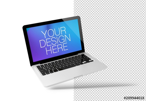 floating laptop mockup buy this stock template and explore similar