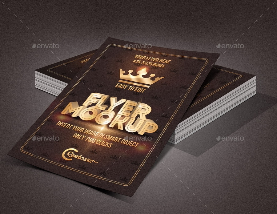 flyer mockup rembassio graphicriver