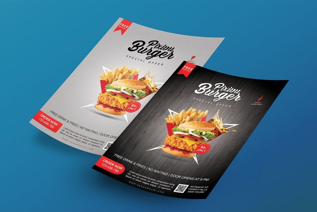 flyer mockup template psd download mockup
