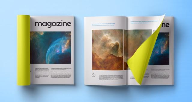 folded psd magazine mockup psd mock up templates pixeden