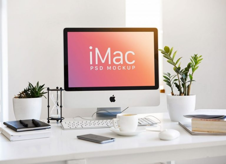 free 215 inch apple imac mockup psd good mockups