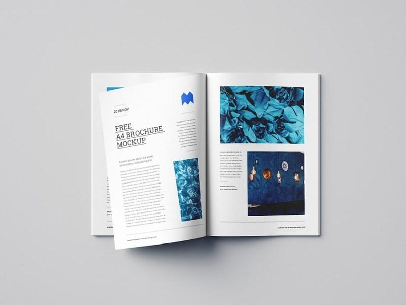 free a4 brochure and magazine mockup pixelsdesign