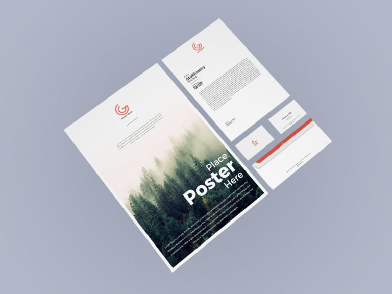 free corporate stationery mockup free mockup