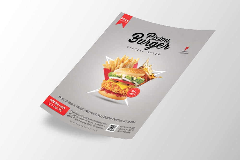 free download flyer mockup in psd designhooks