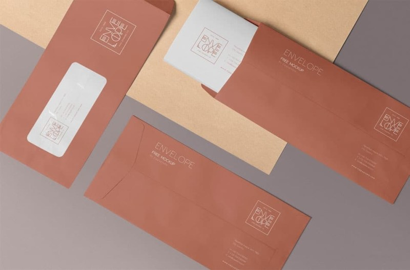 free envelope mockup psd css author