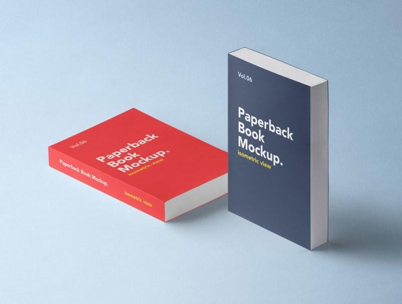 free isometric book mockup mockuptree