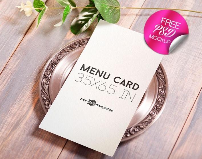 free menu card mockup psd template mockup free downloads
