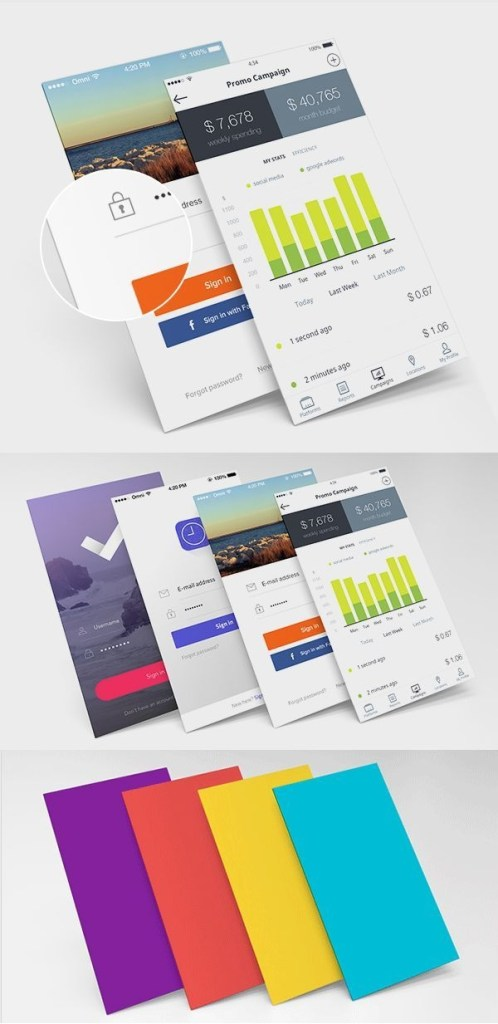 free perspective screens mockup psd design graphique mobile
