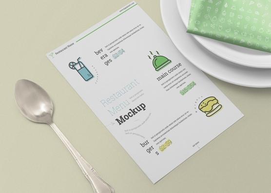 free restaurant menu card mockup zippypixels
