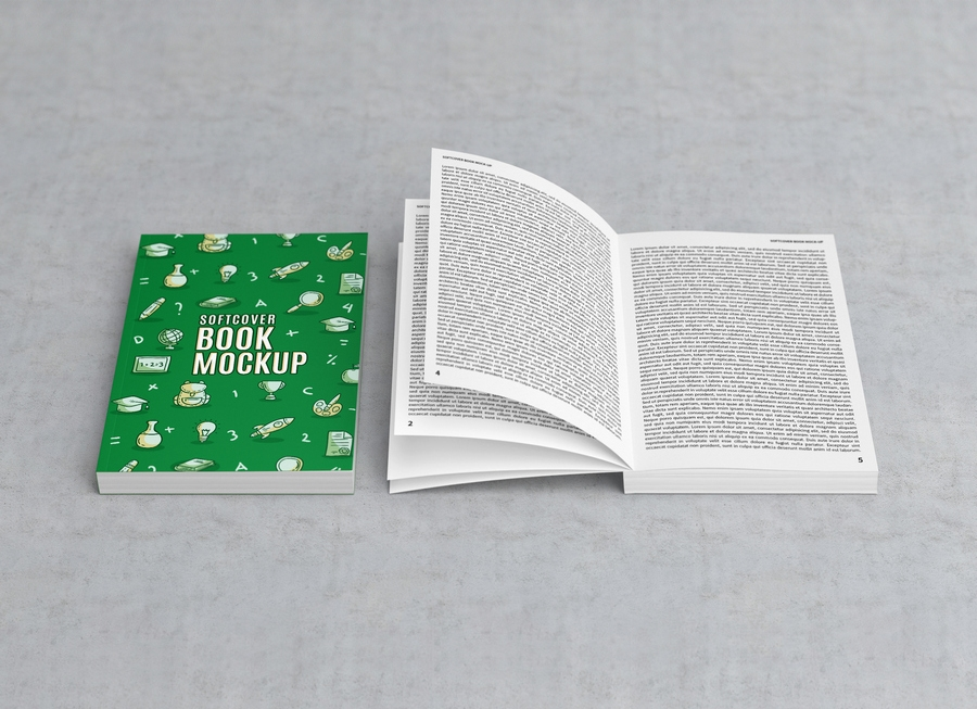 free softcover title open book mockup psd good mockups