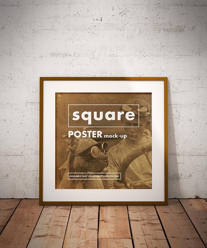 free square poster mockup mockups design free premium mockups