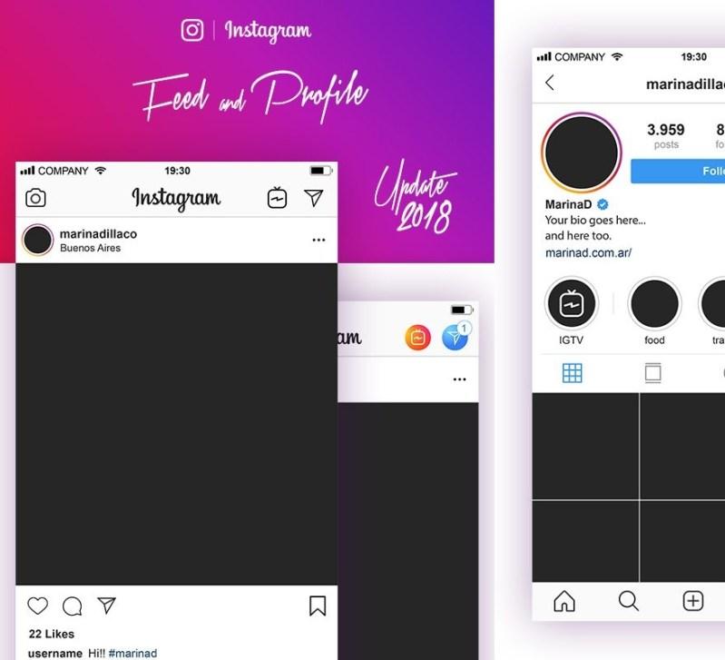 free vector instagram mockup july 2018 marina d mockups arena