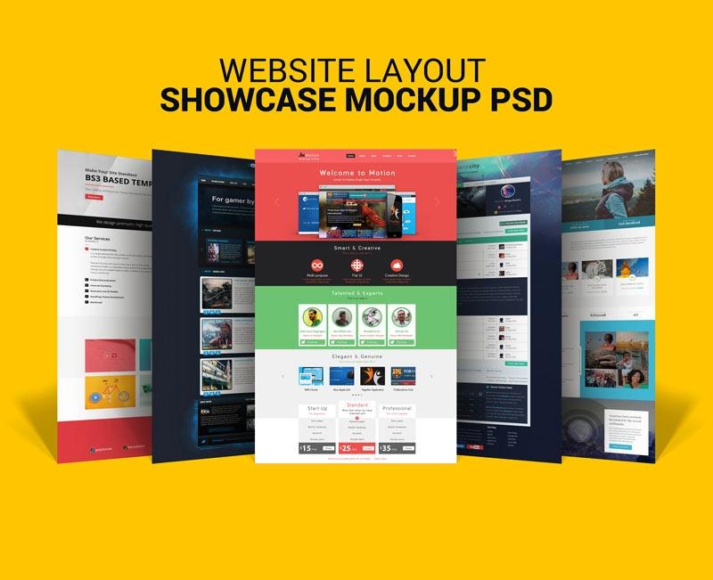 free website showcase mockup mockuptree