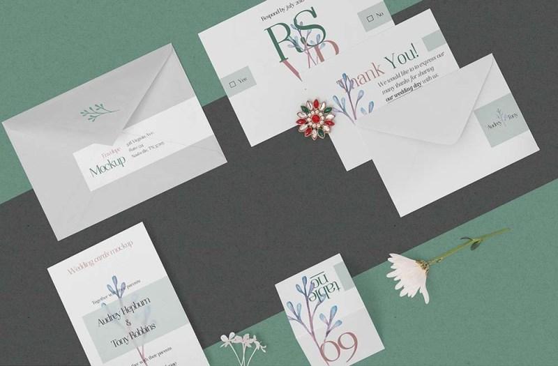 free wedding stationery mockup mockuptree