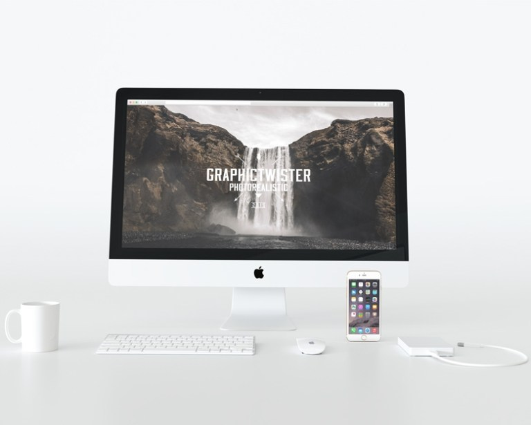 front white imac mockup on behance