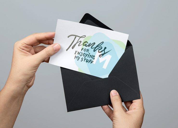 greeting card envelope mockup psd mockup templates