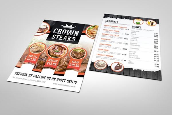 half fold menu mock up on behance