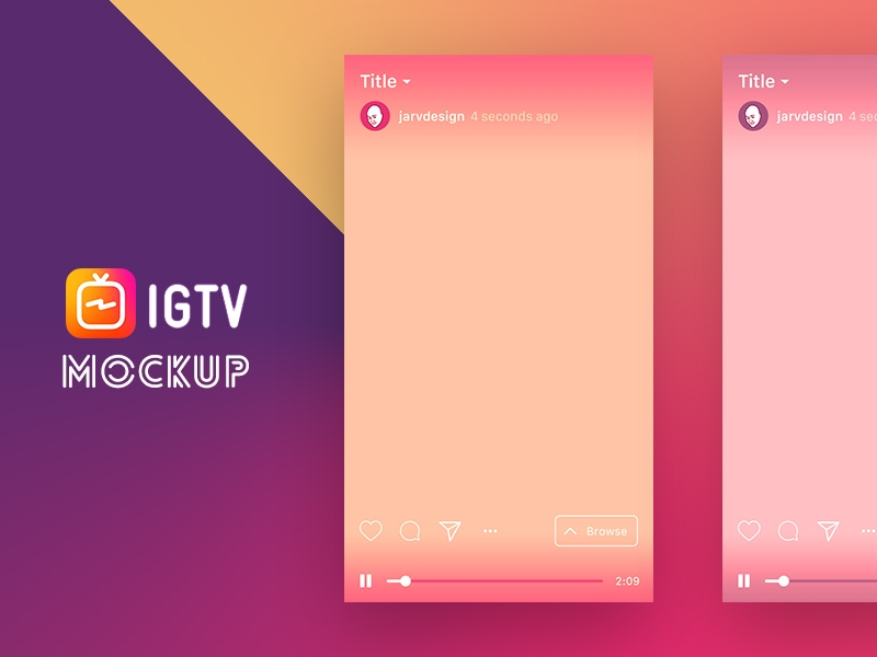 igtv mockup template free psd template psd repo