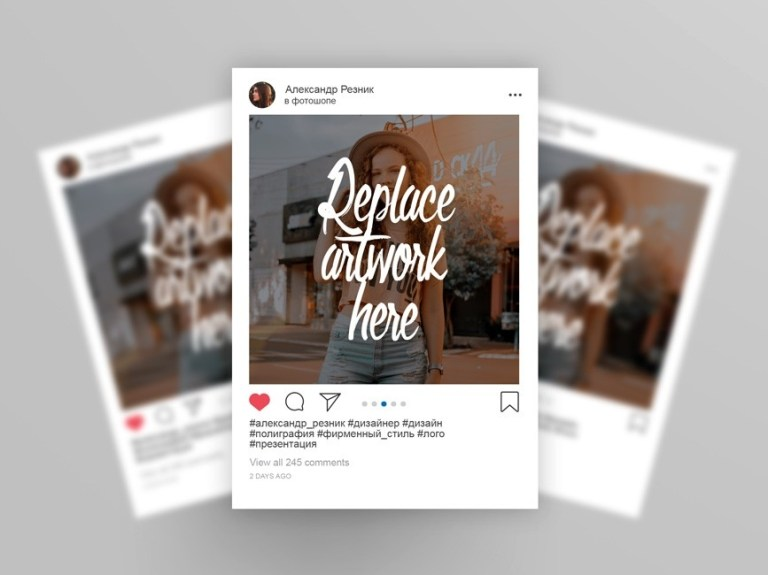 instagram 2019 post mockup mockup love