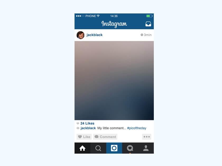 instagram mobile mockup fluxes freebies