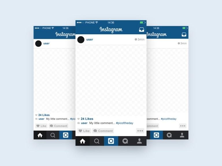 instagram template mobile mockup free psd template psd repo