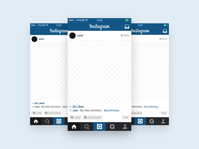 instagram template mobile mockup free psd template psd repo