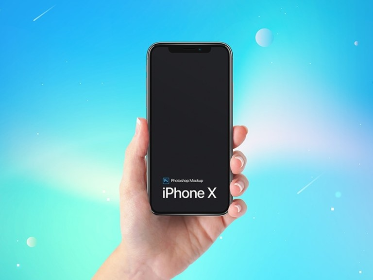iphone x in hand mockup fluxes freebies