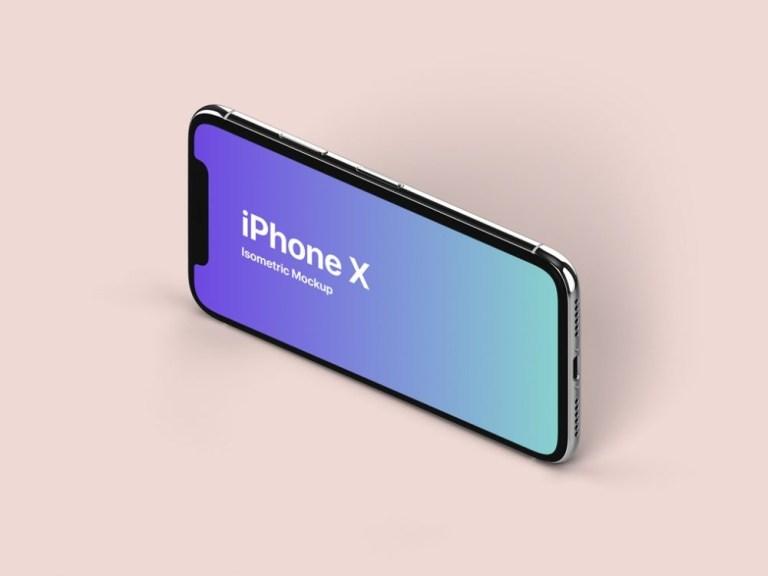 isometric landscape iphone x mockup mockupworld