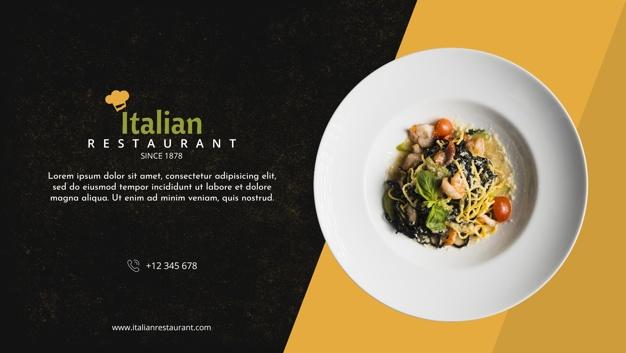 italian restaurant menu mockup psd file free download