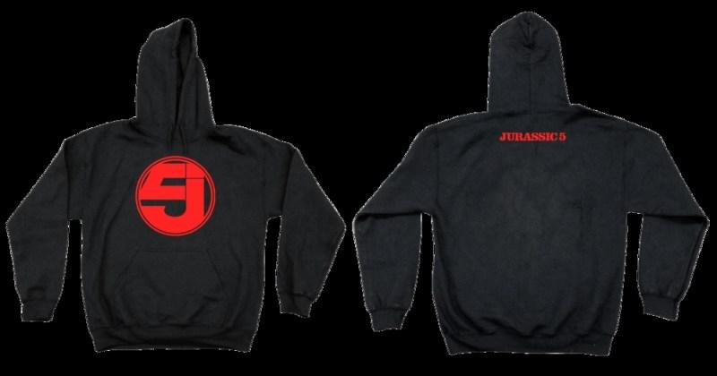 jurassic 5 black red hoodie
