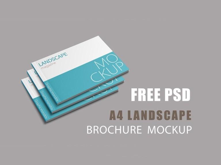 landscape magazine mockup free psd template psd repo