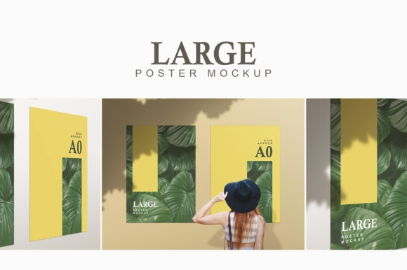large poster mockup graphic portfolians creative fabrica