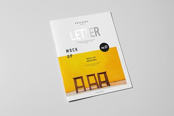 letter brochure catalog booklet mock up on behance