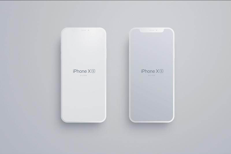 matte iphone 8 x xs mockup for figma freebie supply